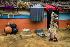 Pitcher (SaumalyaGhosh.com) Tags: woman india color home water colors wall nikon village hut pitcher westbengal d7000