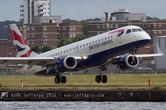 G-LCYL E190 British Airways (JaffaPix .... +2 million views, thanks!) Tags: airplane flying aircraft aviation flight aeroplane airline docklands ba britishairways londoncityairport londoncity embraer baw erj erj190 lcy e190 eglc glcyl jaffapix davejefferys