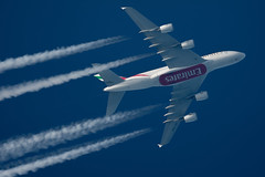 Emirates Airbus A380-861 A6-EDO (Thames Air) Tags: emirates airbus a380861 a6edo contrails telescope dobsonian overhead vapour trail