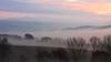 Tuscan Sunrise (alliance1) Tags: italy color fog sunrise canon tuscany whynot 2009 24105mm 40d 16x9crop patrickstuscany