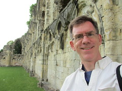 Paul at St. Mary's Abbey, York, England (Paul McClure DC) Tags: york england architecture ruins britain historic northyorkshire paulmcclure june2013