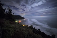 Cape Perpetua (mnv.photography1) Tags: ocean sunset beach outdoor scenic pacificocean pacificnorthwest oregoncoast lighttrails nightphoto highway101 yachats capeperpetua florenceoregon canon6d mnvphotography