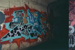 Blief (always_exploring) Tags: film 35mm graffiti bad tunnel scan drain explore bayarea graff lurking lurk obg filmphotography blief bayareagraffiti