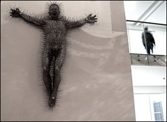 Die Harder - DSC01217a (normko) Tags: sculpture david west london art die gallery post coat pop east hanger crucifixion meets harder mach sate