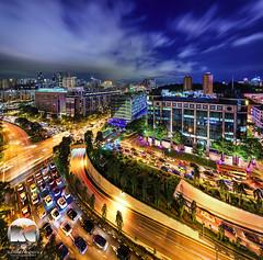 Havelock interchange (kenneth chin) Tags: city yahoo google twilight nikon singapore asia nikkor verticalpanorama digitalblending centralmall d810 uppercrossstreet 1424f28g holidayinnclarkequay