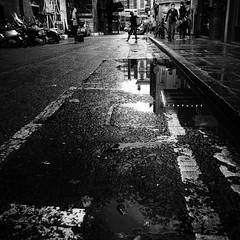 puddle (s_inagaki) Tags: street blackandwhite bw london puddle bnw monchrome