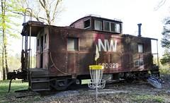 Altavista, Virginia (2 of 2) (Bob McGilvray Jr.) Tags: railroad red train private virginia nw display steel tracks caboose va cupola static altavista norfolkwestern virginian vgn