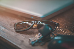 Sunglasses (Daniel Bissill Photography) Tags: summer sunglasses canon keys desk sony indoor rays 28 70200 sonya7 sonya7ii