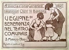 Veglione di Beneficenza (Renato Morselli) Tags: italy art paper teatro arte theatre 1900 bologna festa biglietto carta disegno veglione teatrocomunaledibologna