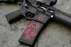 Mercenary Skull AR-15 (GunkSkins) Tags: rebel skull weapon warrior guns shooter ar15 firearm bountyhunter tactical mercenary tacticool gunskins
