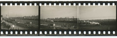 35mm Contact Print Roll In der Heimat (05) (Hans Kerensky) Tags: film station train 35mm paper print found deutschland with ride 1938 adler holes historic replica celebration photographs german f roll locomotive contact agfa heimat sprocket 1935 carriages isopan