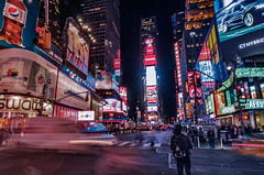Times Square (mattinho2704) Tags: street longexposure light people urban usa streets night square lights nikon long nightshot manhattan united timessquare times lighttrails states bigapple lightstreams longexposures nikond300