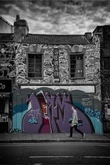 house of truth graffiti (Daz Smith) Tags: city uk portrait people urban blackandwhite bw streets art blancoynegro monochrome wall canon bristol graffiti blackwhite bath candid graf citylife thecity streetphotography spray stokescroft canon6d dazsmith bathstreetphotography