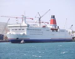 Sunny (2) IMO (brianshipman18) Tags: ferry docks greece salamina