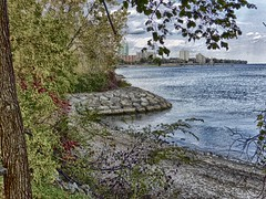 Pier and Downtown (gerry303) Tags: outdoor lake trees burlington ontario pier buildings downtown