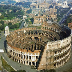 Ancient Rome. The Colosseum and the Roman Forum in the backgroung, looking West to the Capitoline Hill, 72-80 AD (mike catalonian) Tags: forum colosseum amphitheater viasacra ancientrome capitolinehill 1stcenturyad constantinesarch titusarch 80ad