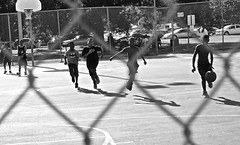 Boys playing basketball (wheeler_camille) Tags: park street white black austin photography texas district east recreation facility givens