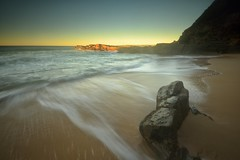 Lone Rock (Paul Hollins) Tags: ocean seascape newcastle rocks australia newsouthwales aus nudistbeach watermovement cookshill iamnikon nikond750
