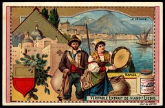 Liebig Tradecard S584 - Naples (cigcardpix) Tags: tradecards advertising ephemera vintage liebig chromo italy