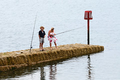 The Fisher People. (curly42) Tags: water seaside fishing devon anglers dawlish