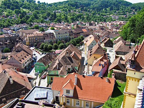 Sighișoara from the Clock Tower