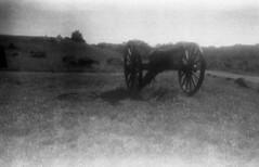 field_cannon (Judy M. Boyle) Tags: expired film 120 blackandwhite landscape caffenol caffenolc gettysburgpa gettysburg gettysburgbattlefield