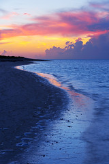 Draw (Chad Dutson) Tags: ocean light sunset sea reflection beach nature water island islands evening twilight sand paradise waves glow dusk shore tropical caribbean draw wilderness turks caicos provo turksandcaicos tci providenciales chaddutson