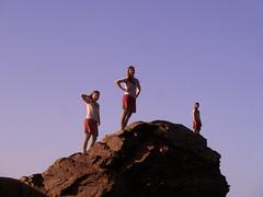 Triplicate closer-up (angeloska) Tags: ikaria aegean double cliffs multiplicity ridge greece hiker prettygirl hikingtrails   atheras rocktop  opsikarias ikarianview