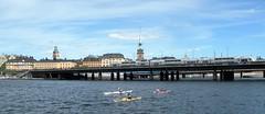 Waterways and bridges (bokage) Tags: bridge water sweden stockholm canoe gamlastan oldtown bokage