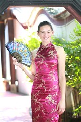 DP1U7331 (c0466art) Tags: light portrait building girl face canon pose fan costume eyes pretty slim action outdoor gorgeous chinese ale style cruz salvador tall charming elegant ols   1dx c0466art