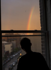 Somewhere,,,,,under the Rainbow (Several seconds) Tags: nyc newyork rainbow bushwick potofgold