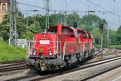 P2300195 (Lumixfan68) Tags: eisenbahn db cargo bahn 261 265 deutsche loks baureihe gravita voith dieselloks lokzge rangierloks