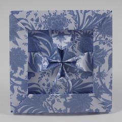 Maltese Cross (framed) (Micha Kosmulski) Tags: origami tessellation modular unit cross maltesecross malta frame kamipaper michakosmulski white blue amalficross