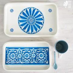 Vassoio dipinto a mano (Myolica) Tags: myolica maiolica madeinitaly handmade dipintoamano puglia vassoio coffee colazione breakfast brunch