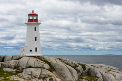 Peggy's Cove (Ron Scubadiver's Wild Life) Tags: sea sky lighthouse canada nova clouds landscape rocks scotia 24120