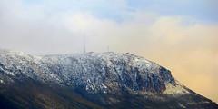 Snow in the Mist (elliott.lani) Tags: light sky cloud mist snow nature clouds outdoors skies glow mount hobart lani atmospheric allrightsreserved naturephotography mountwellington kunanyi tasmanianmountain elliottlani lanielliott