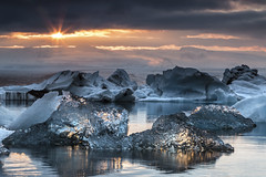 Glacial lake Jkulsrln at sunset. (Jakub Hrdina) Tags: glaciallake jkulsrln glaciervatnajkull iceland sunset sunrise