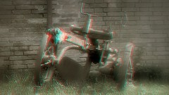 alter Pflug / old plow 3d anaglyph (Chridage) Tags: old 3d anaglyph plow alter pflug redcyan