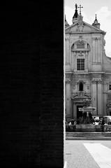 Loreto #7 (HimynameisPaolo) Tags: world plaza city people urban blackandwhite bw italy white black building church architecture contrast buildings square nikon europa europe italia place cathedral earth exploring cities 7 places chiesa explore worldwide piazza bianca terra exploration bianco nero loreto contrasts architettura bianconero marche biancoenero citt ancona mondo architetture architectures contrasti contrasto esplorare d7000