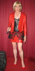 IMG_2931r (magda-liebe) Tags: paris travesti glasses leather crossdresser cuir outdoor french tgirl highheels mini corset skirt vinyl crop handcuff