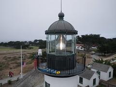 Point Pinos Lighthouse - the Lantern Room (El Kite Pics) Tags: california usa lighthouse kite monterey technology aerial kap pacificgrove fresnellens pointpinos lanternroom