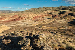 Painted Hills Vista II (chasingthelight10) Tags: travel nature oregon photography landscapes countryside events sunsets places highdesert vistas paintedhills johndayfossilbedsnationalmonument