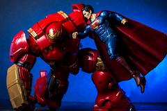 Hulkbuster vs Superman Pose (Vimlossus) Tags: toy action posing superman figure dccomics marvel hulkbuster