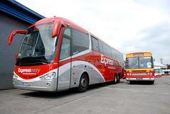 Bus Eireann 'SE23' and former 'MD177' (Longreach - Jonathan McDonnell) Tags: cork expressway scania leyland daf se23 buseireann irizar capwell dsc0298 177ik buseireanncork capwellgarage irizari6 md177 151d12260