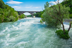 The raging waters (Lorenzoclick) Tags: bridge trees italy water river landscape italia fiume ponte fujifilm acqua paesaggio weir corrente adda schiuma chiusa trezzo xt1 impetuosa xf14mmf28