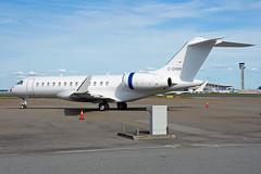 C-GHSW (Skidmarks_1) Tags: norway airport aircraft aviation osl bombardier engm bizjets businessjets oslogardermoenairport global6000 cghsw
