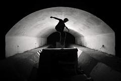 blunt bm (polacekbrano) Tags: blackandwhite silhouette night diy skateboarding slovakia trnava underbridge strobist nikonphotography nikoneurope branomoravcik hoitytoityskateboards cistastoka