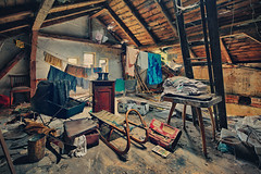 It was a lonesome room at the top of a house... (ukasz Makiewicz) Tags: abandoned room forgotten opuszczone lost haunted hdr house attic urbex scary spooky