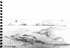 Ile d'Yeu, côte sauvage (Croctoo) Tags: yeu atlantique crayon croquis croctoofr croctoo