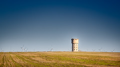 Water tower with turbines (RWYoung Images) Tags: canon landscape farm country watertower land southaustralia windturbine yorkepeninsula edithburgh quantumentanglement rwyoung 5d3
